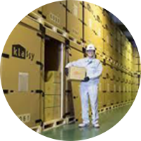 空調・セキュリティ完備の品質管理