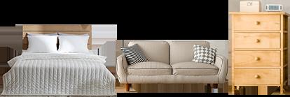 家具・家電品も安心の梱包